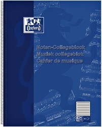 Collegeblok Oxford muziek A4+ 4-gaats 50vel blauw