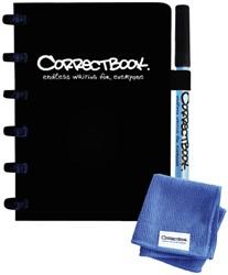 Notitieboek Correctbook uitwisbaar en herbruikbaar A6 zwart blanco 40blz
