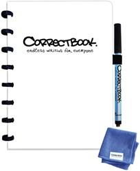 Notitieboek Correctbook uitwisbaar en herbruikbaar A5 wit blanco 40blz