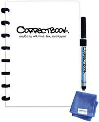 Notitieboek Correctbook uitwisbaar en herbruikbaar A5 wit lijn 40blz