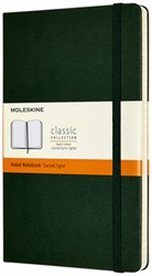 Notitieboek Moleskine L 130x210mm lijn myrtle green
