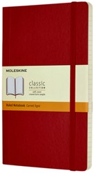 Notitieboek Moleskine L 130x210mm lijn scarlet red