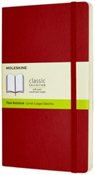 Notitieboek Moleskine L 130x210mm blanco scarlet red