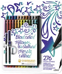 Fineliner Chameleon bold blister à 24 kleuren
