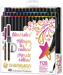 Fineliner Chameleon brilliant blister à 48 kleuren