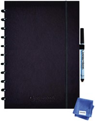 Notitieboek Correctbook uitwisbaar en herbruikbaar A4 zwart lijn 40blz