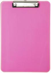 Klembord MAUL A4 staand transparant neon roze