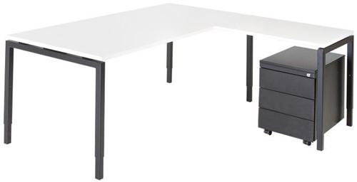 Opstelling tafel serie 55 180X80cm inclusief aanbouwblad en ladenblok-2