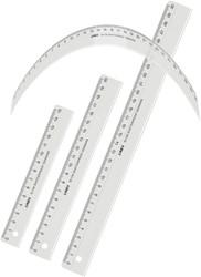 Liniaal LINEX onbreekbaar 15cm