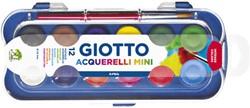 Gouache Giotto 23mm doos à 12 kleuren met penseel