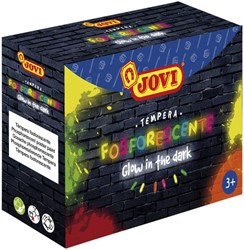Plakkaatverf Jovi glow in the dark 55ml set à 4 kleuren ass