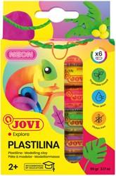 Boetseerklei Jovi Plastalina 15gr neonkleuren