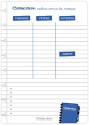 Correctbook A5 set met 5 planner pagina's