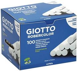 Schoolbordkrijt Giotto wit doos à 100 stuks