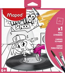 Canvas Maped 20x20cm meisjes design