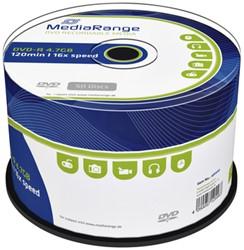 DVD-R MediaRange 4.7GB|120min 16x speed, 50 stuks