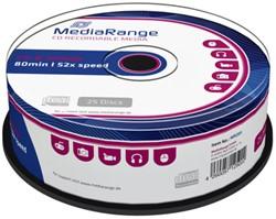 CD-R MediaRange 700MB|80min 52x speed, 25 stuks