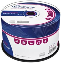 CD-R MediaRange 700MB|80min 52x speed, 50 stuks