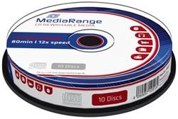 CD-RW MediaRange 700MB|80min 12x speed, 10 stuks
