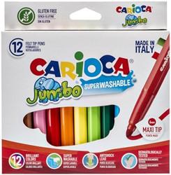 Viltstiften Carioca Jumbo Maxi  set à 12 kleuren