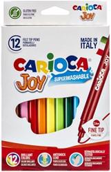 Viltstiften Carioca Joy set à 12 kleuren