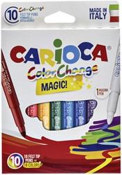 Viltstiften Carioca Magic set à 10 stuks assorti