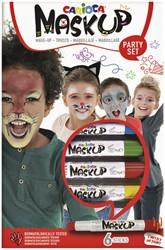 Schminkstift Carioca make-up feest set à 6 kleuren