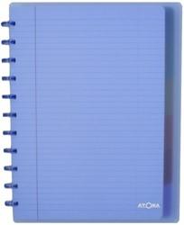 Schrift Atoma A4+ lijn 120blz 90gr PP transparant assorti