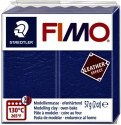 Klei Fimo  leather-effect 57 gr indigo