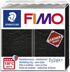 Klei Fimo  leather-effect 57 gr zwart