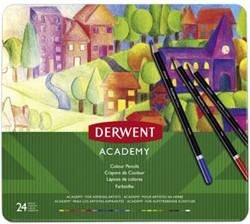 Kleurpotloden Derwent Academy blik à 24 stuks assorti