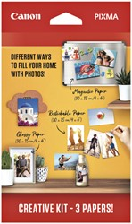 Fotopapier Canon creatieve kit met 3 soorten papier