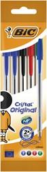 Balpen Bic Cristal blister à 5 stuks