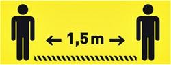 Vloersticker OPUS 2 40x15cm geel/zwart