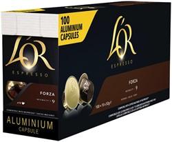 Koffiecups Douwe Egberts L'Or Espresso Forza 100 stuks