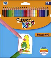 Kleurpotloden Bic Kids Tropicolors blister à 24 stuks