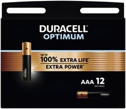 Batterij Duracell Optimum 12xAAA