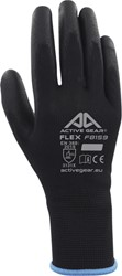 Handschoen ActiveGear grip PU-flex zwart medium