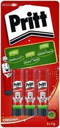 Lijmstift Pritt 11gr blister à 3 stuks