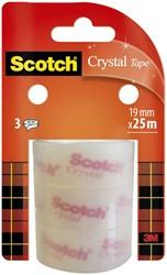 Plakband Scotch Crystal Clear 19mmx25m
