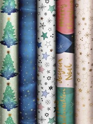 Inpakpapier Mindful Christmas 70x200cm assorti