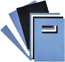 Voorblad GBC A4 lederlook met venster wit 50stuks