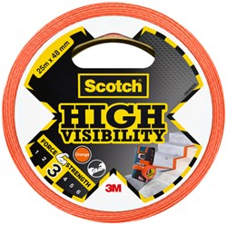 Plakband Scotch high visibility 48mmx25m oranje