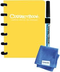 Notitieboek Correctbook uitwisbaar en herbruikbaar A6 lijn geel 40blz