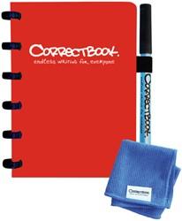 Notitieboek Correctbook uitwisbaar en herbruikbaar A6 lijn rood
