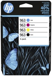 Inktcartridge HP 6ZC70AE 963 zwart + 3 kleuren