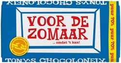 "Chocolade Tony's Chocolonely reep 180gr puur ""Zomaar"""