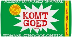 "Chocolade Tony's Chocolonely reep 180gr melk hazelnoot ""Komt goed"""