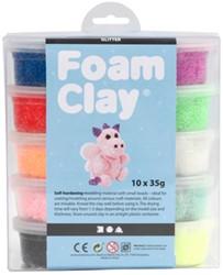 Klei Foam Clay glitter 35gr assorti