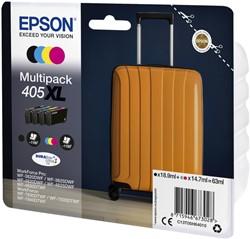 Inktcartridge Epson 405XL zwart + 3 kleuren